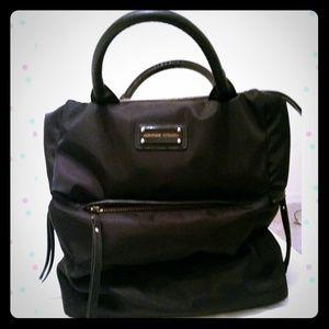Adrienne Vittadini Black Puffer Tote Bag